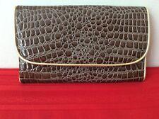 c39bc54d144 NEW Estee Lauder Brown Clutch Wallet Travel Faux Leather Purse (p8)
