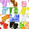 Lot of 250 Plastic Acrylic 6mm Double Cone Faceted Bicone Diamond Shaped Beads