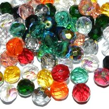 CZ61 Assorted Color Fire-Polished Faceted 12mm Round Czech Glass Beads 20pc