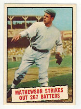 Christy Mathewson Baseball Thrills Topps 408 1961 8.5 NM-MT