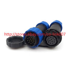 SD20 12pin Waterproof Connector, 5A 250V Power Cable Connector 12pin Plug Socket