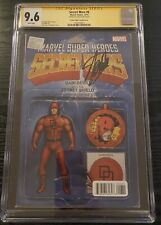 Secret Wars #6 CGC 9.6 SS Signed Stan Lee Daredevil Action Figure Variant Cover
