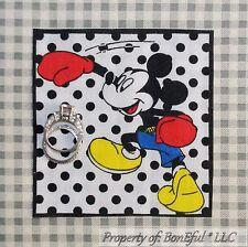 BonEful Boutique Disney VTG Mickey Mouse Boy Sew Block On Boxing Applique Square