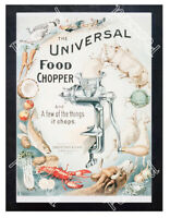 Historic The Universal Food Chopper 1890s Advertising Postcard