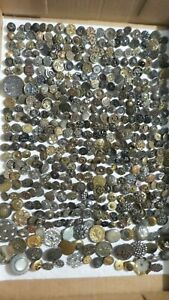 Antique METAL BUTTON LOT, Victorian, Filigree, Scenic, Floral, Various Size, #2
