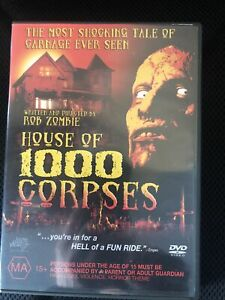House Of 1,000 Corpses DVD, 2004 Directed By Rob Zombie. Region 4