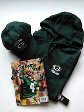 Green Bay Packers NFL Hoodie XL & Ball Cap, NEW! w/tags, & Sp. Ed. SI 2008 mag