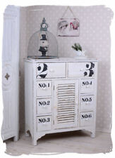 Commode blanc Cabinet  Vintage Console shabby chic apothicaire ancien