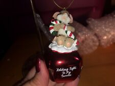 "Charming Tails ""Candy Cane "" Dean Griff New 2019 Christmas Ornament Bell"