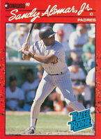 Sandy Alomar Jr 1990 Donruss #30 Rated Rookie Cleveland Indians Baseball Card