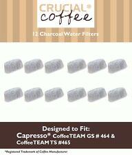 12 Capresso Charcoal Coffee Filters, Fits Capresso 4640.93, TEAM TS # 465 NEW