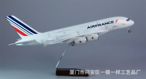 1/160 Scale AIRFRANCE A380 Airline Model Plane with LED Light for Decoration
