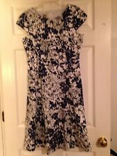 Anne Klein Dress White With Black and Blue Size 8 Ladies, Women's , Juniors