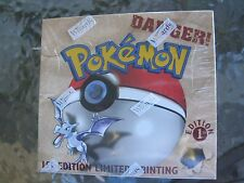 Pokemon Fossil 1st First Edition Factory Sealed Booster Box Excellent  Condition
