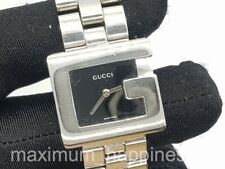GUCCI 3600J G BEZEL JUNIOR / MID SIZE STAINLESS STEEL QUARTZ WATCH - AUTHENTIC