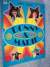 1977 Whitman Donny & Marie Osmond Paper Dolls #1991