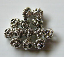 150pcs 4.5x3.5mm Metal Alloy Daisy Tube Spacers - Antique Silver
