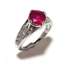 Natural Ruby Gem Stones 925 Sterling Silver Rings Us Size 6,7,8