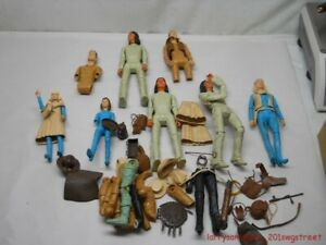 """~LARGE~ GROUP OF """"JOHNNY WEST SERIES"""" MARX FIGURES / ACCESSORIES FOR ONE MONEY"""