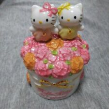 Hello Kitty Japan 30th anniversary Pottery Case 8cm rare limited SANRIO angel 6I