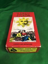 Vintage 1970s TAROT Cards Deck AG Muller 1JJ Made in Switzerland W/ Instr. 0001