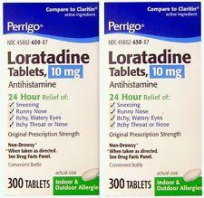Perrigo Loratadine 10mg 24hr Non Drowsy Allergy 300 ct (2 pack) 600 tabs total!