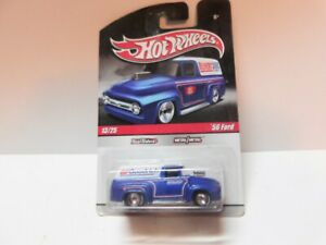 Hot Wheels - 1/64 - Delivery - 56 Ford - ( Goodrich )  - w Real Riders