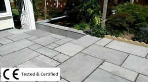 Silver Kandla Grey 19.5m2  Indian sandstone paving slabs flags