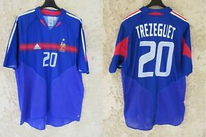 Maillot Equipe de FRANCE 2004 ADIDAS TREZEGUET shirt trikot vintage camiseta XL