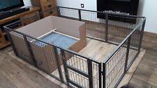 Margothedog Puppy Exercise Pen Modular Dog Cage 8 panels & 1 door