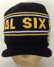 NHL Boston Bruins CCM Cuffless Winter Knit Hat Cap Beanie w/ Visor NEW!