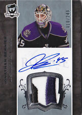07-08 The Cup Jonathan Bernier Auto Jersey Patch Rookie Card RC #128 010/249