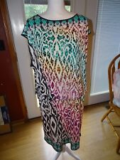 STYLE&CO WOMAN STYLE & COMPANY MULTI-COLOR SLEEVELESS DRESS PLUS SIZE 1X NWT