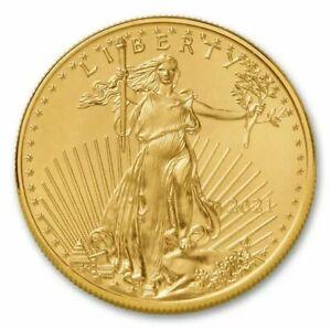 2021 American 1 oz Gold Eagle BU - $50 US Gold Bar