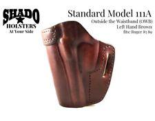 SHADO Leather Holster Standard Model 111A Left Hand Brown OWB fits Ruger 85 89
