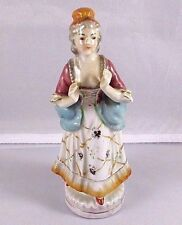"""Vintage Occupied Japan Porcelain Colonial Victorian Women Lady Figurine 6½"""" Tall"""
