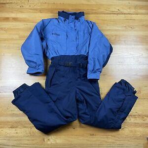 Columbia Long Sleeve Front Full Zip One Piece Ski Suit Snow Bib Snowsuit SZ L