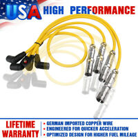 4Packs 8mm Spark Igniton Plug Wires Set For Volkswagen Golf Jetta Beetle GL 2.0L
