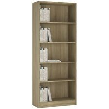4 You Sonoma Oak Home Living Furniture Tall Wide Bookcase 4 Shelf Storage Unit