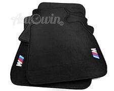 Black Floor Mats For BMW 3 Series E92 E92LCI With ///M Emblem Clips RHD AU