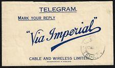 Palestine 1946 Haifa Télégramme Via Tel Aviv Câble & sans Fil Limited