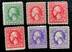 US Stamps SC#525-530 Washington Set Mint H or NH/OG