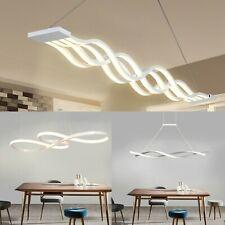 Dimmable Modern Wave LED Ceiling Light Living Room Pendant Chandelier Lamp