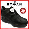 Hogan Interactive Scarpe da Uomo Sneakers Running Sportive in Pelle Nero Nuove