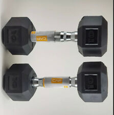 Weider 10 lb Rubber Hex Dumbbell Weights Set of 2 (20 lbs Total)Brand New