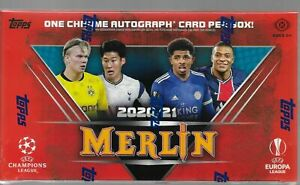 2020/21 Topps Chrome Merlin UEFA Champions League HOBBY BOX - Factory Sealed