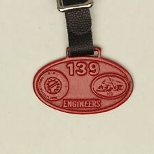 IUOE 139 Pocket Watch Fob International Union Operation Engineers Wisconsin Red