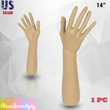 Mannequin Hand Display Jewelry Bracelet Necklace ring glove Stand holder 14""