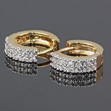 Ohrringe Creolen Ø 18 mm 999er Gold 24 Karat vergoldet gelbgold O1456S