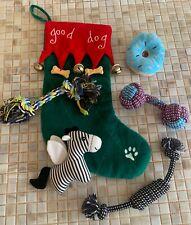 Christmas Dog Stocking with Toys